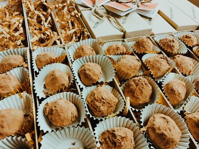 Peloton's TCHO Chocolate Truffles (Photo by Chef Patrick Tafoya)